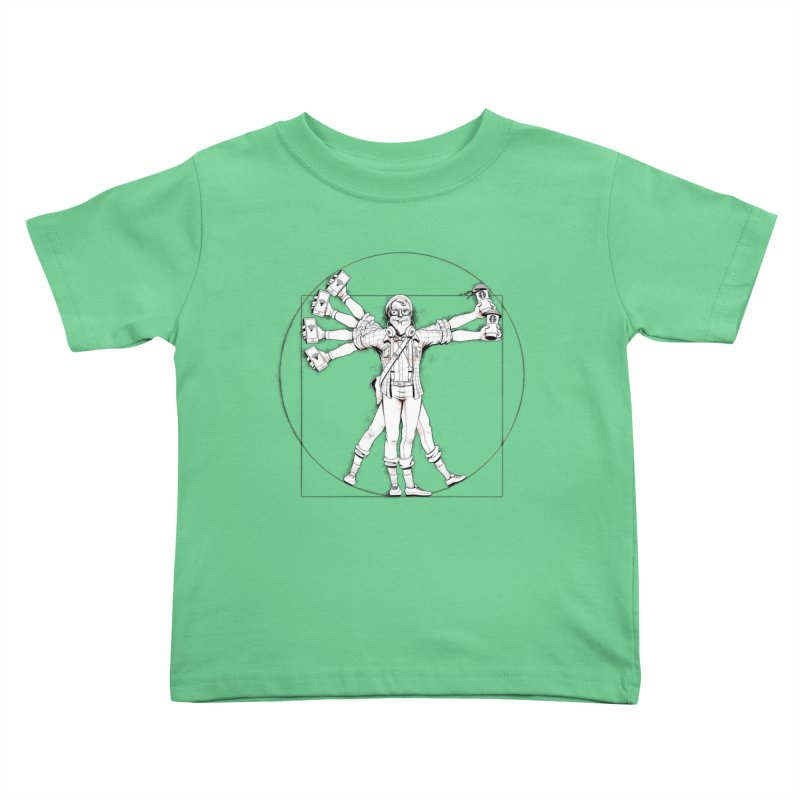 Hipstruvian Man Kids Toddler T-Shirt by Tiago Möller Art Shop