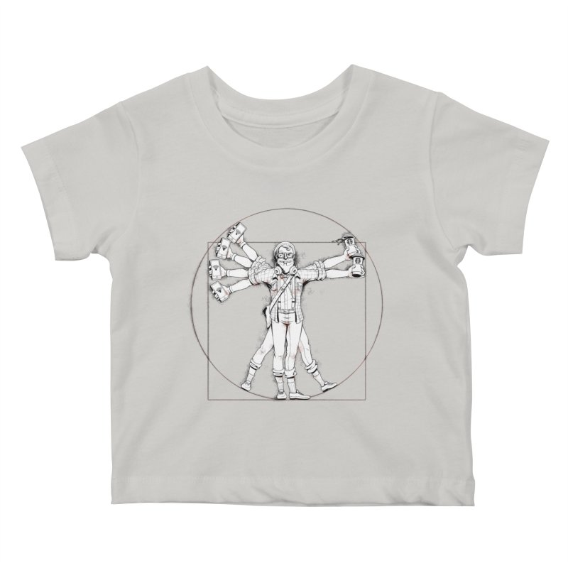 Hipstruvian Man Kids Baby T-Shirt by Tiago Möller Art Shop