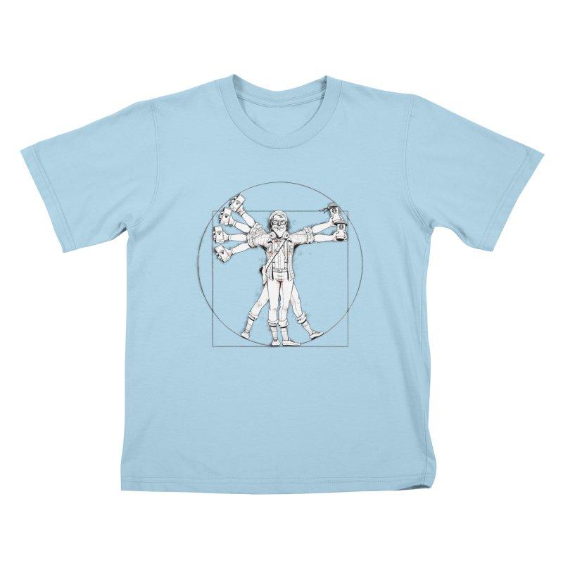 Hipstruvian Man Kids T-Shirt by T2U