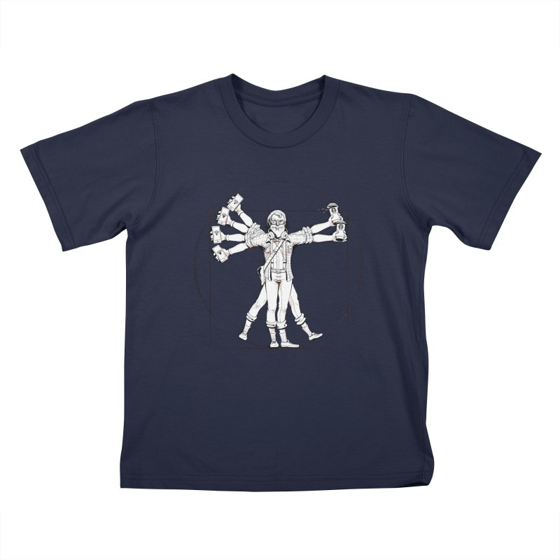 Hipstruvian Man Kids T-Shirt by T2U
