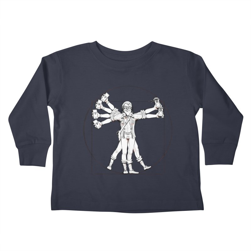 Hipstruvian Man Kids Toddler Longsleeve T-Shirt by T2U