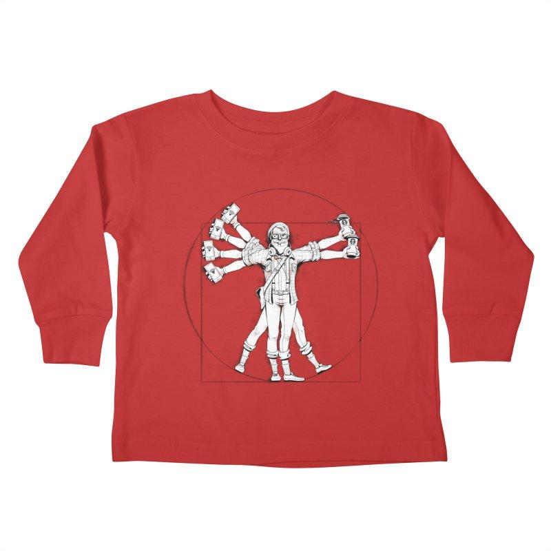 Hipstruvian Man Kids Toddler Longsleeve T-Shirt by T2U