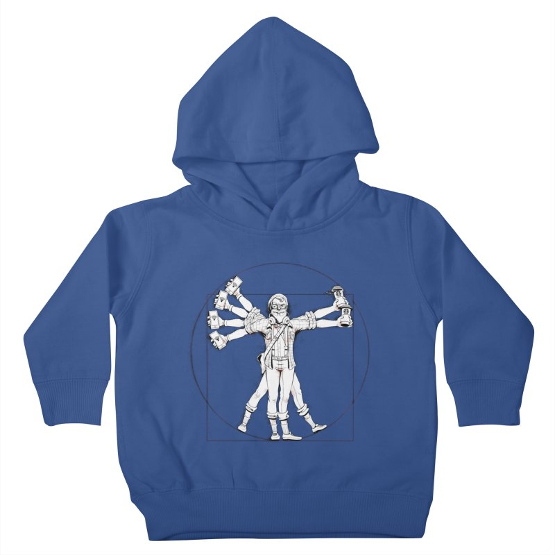 Hipstruvian Man Kids Toddler Pullover Hoody by Tiago Möller Art Shop