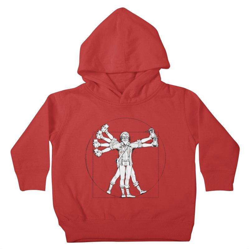 Hipstruvian Man Kids Toddler Pullover Hoody by T2U