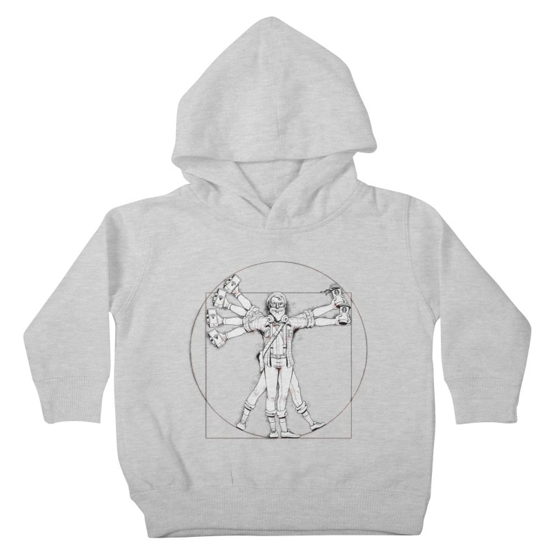 Hipstruvian Man Kids Toddler Pullover Hoody by T2U