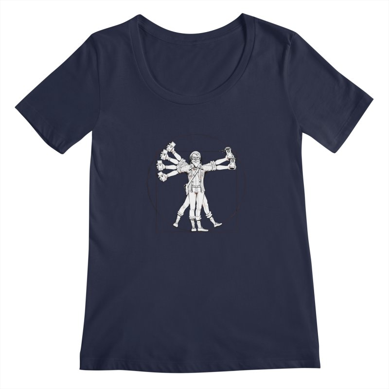 Hipstruvian Man Women's Scoopneck by Tiago Möller Art Shop
