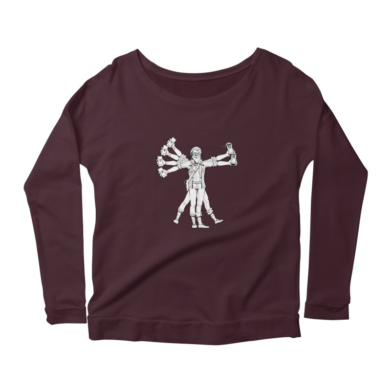 Hipstruvian Man Women's Longsleeve Scoopneck  by Tiago Möller Art Shop