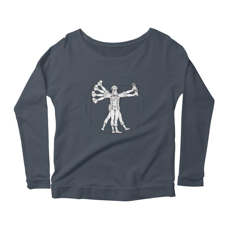 Hipstruvian Man Women's Scoop Neck Longsleeve T-Shirt by T2U
