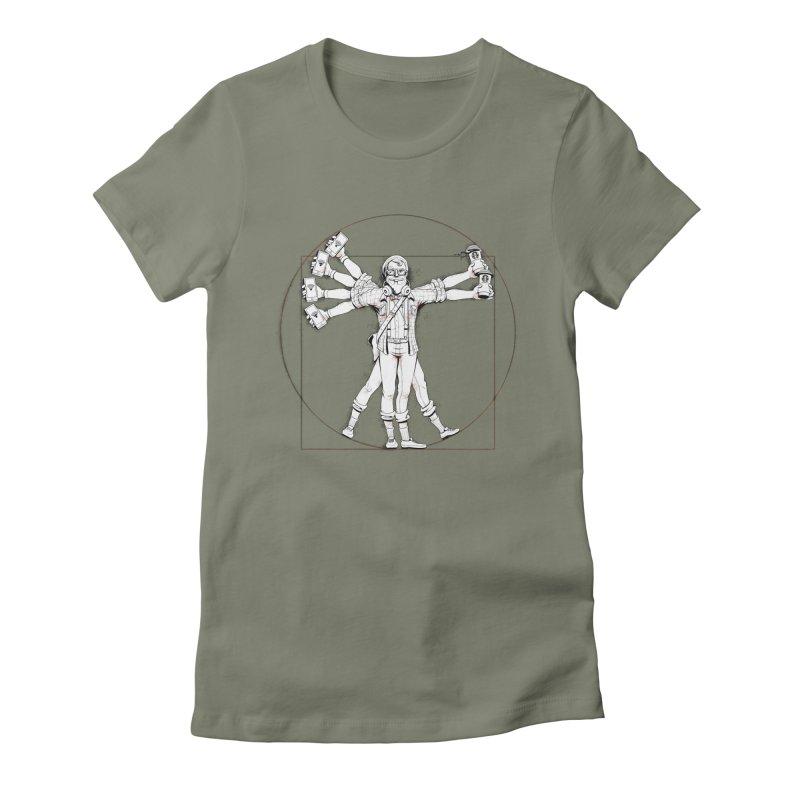 Hipstruvian Man Women's Fitted T-Shirt by T2U