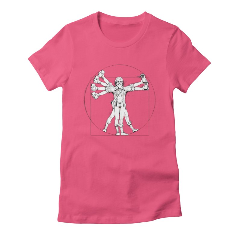 Hipstruvian Man Women's Fitted T-Shirt by T2U