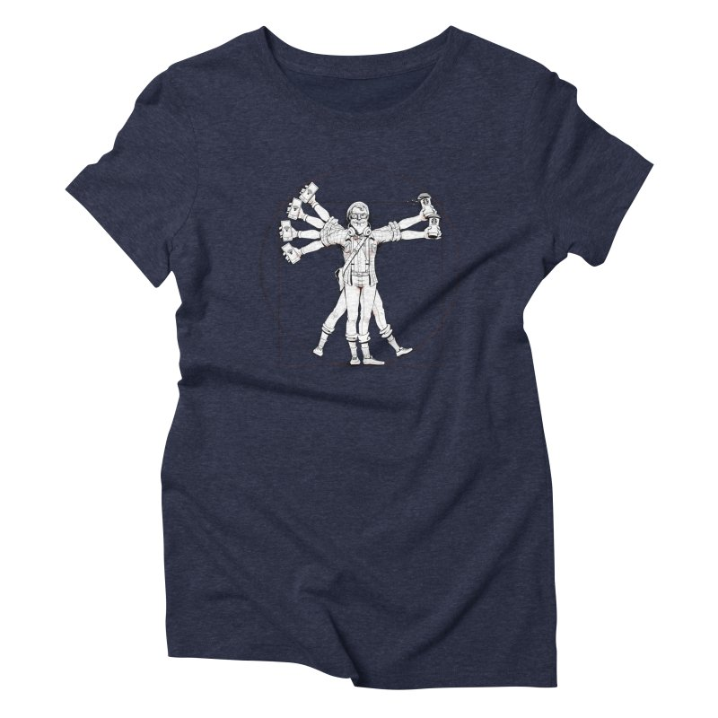 Hipstruvian Man Women's Triblend T-Shirt by T2U