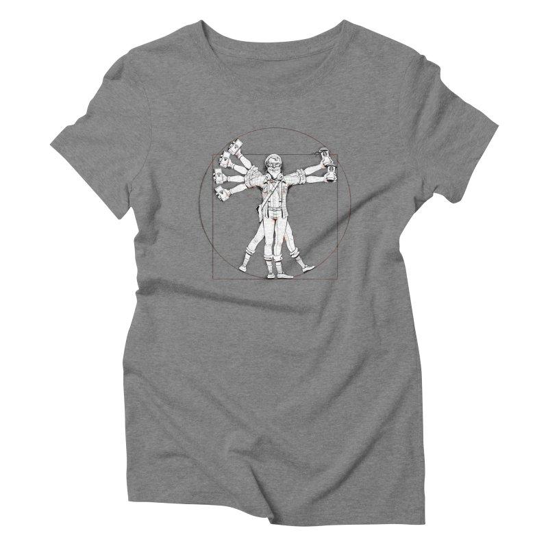 Hipstruvian Man Women's Triblend T-shirt by Tiago Möller Art Shop