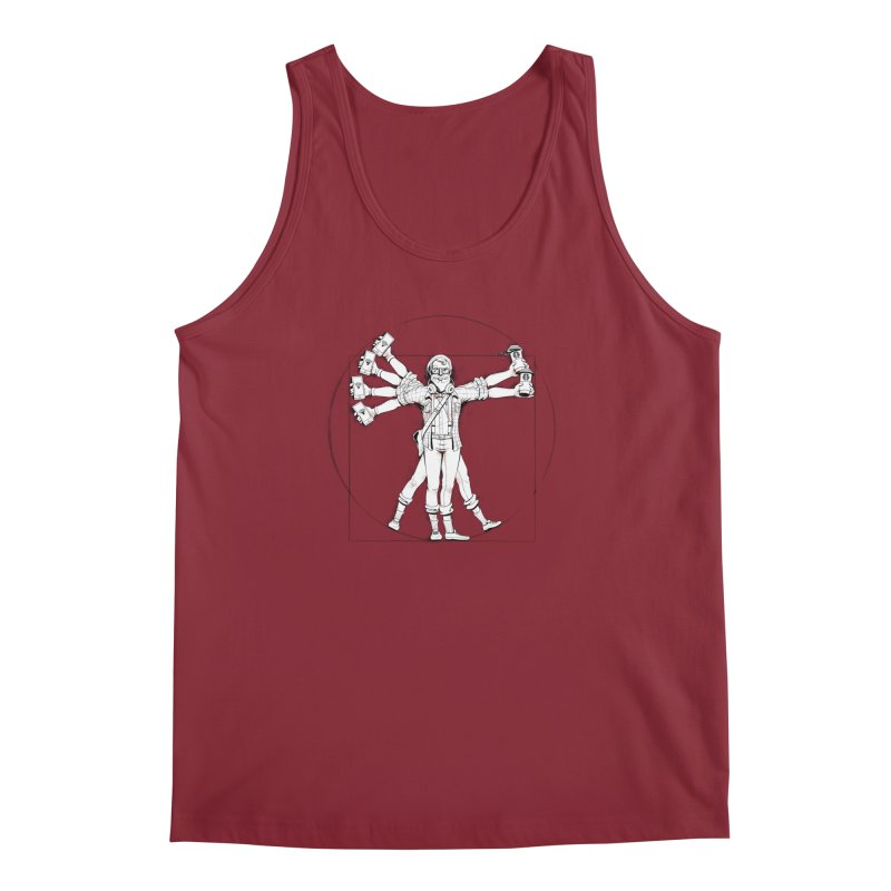 Hipstruvian Man Men's Tank by Tiago Möller Art Shop