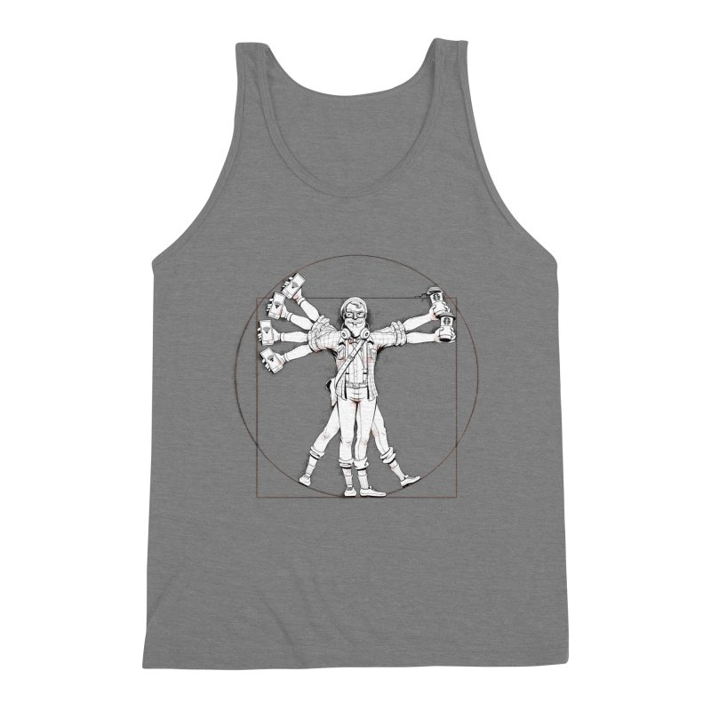 Hipstruvian Man Men's Triblend Tank by T2U