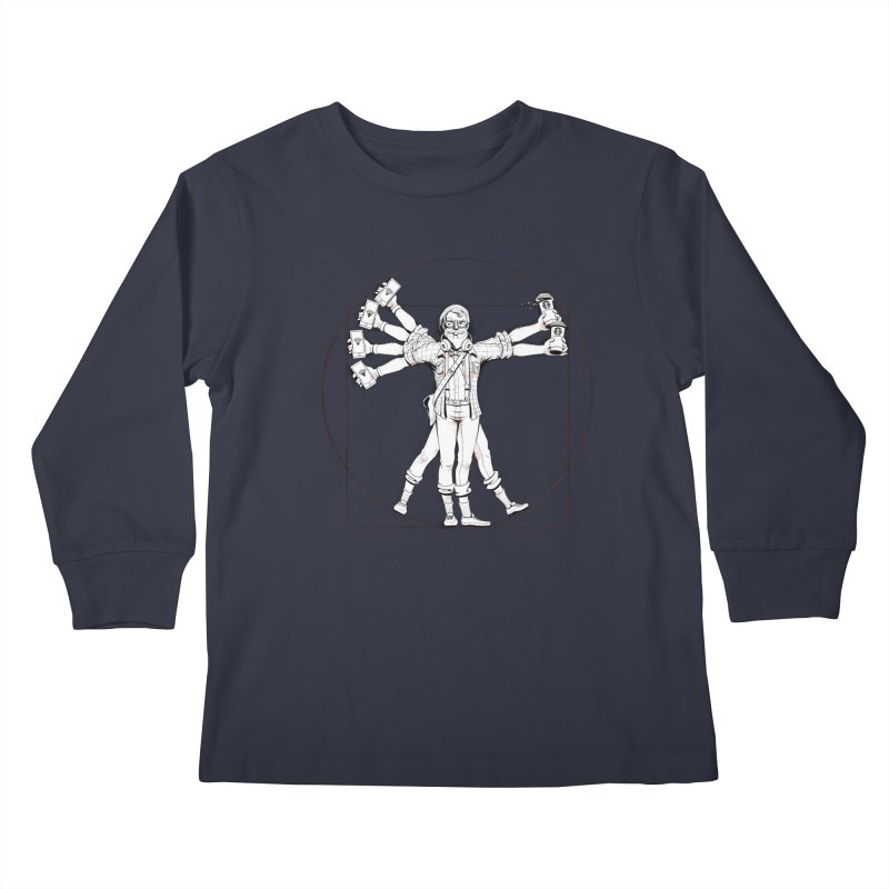 Hipstruvian Man Kids Longsleeve T-Shirt by Tiago Möller Art Shop