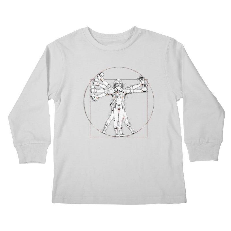 Hipstruvian Man Kids Longsleeve T-Shirt by T2U