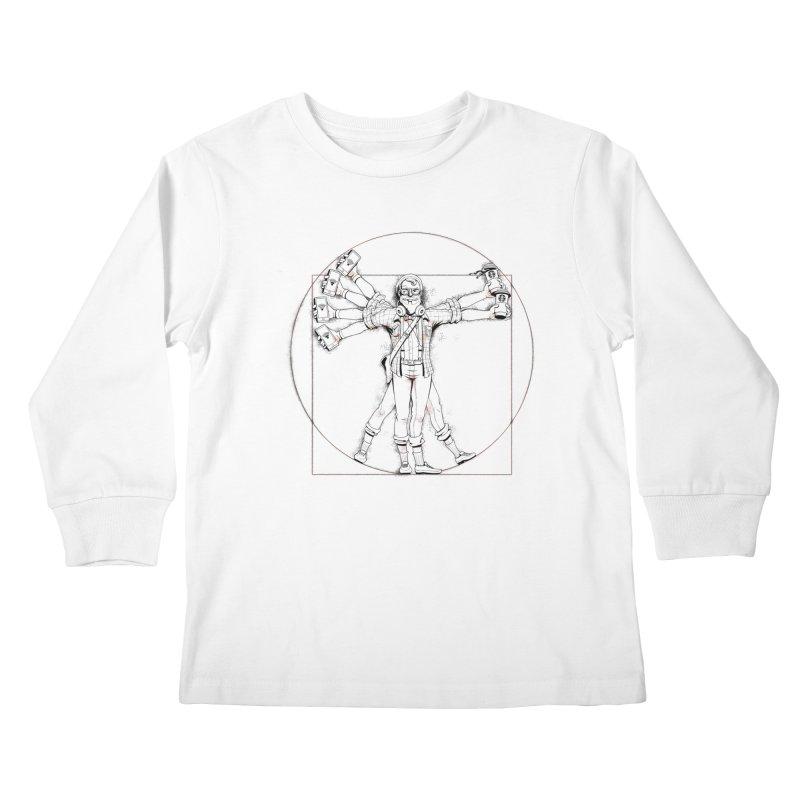 Hipstruvian Man Kids Longsleeve T-Shirt by Tiago Möller Art Shop