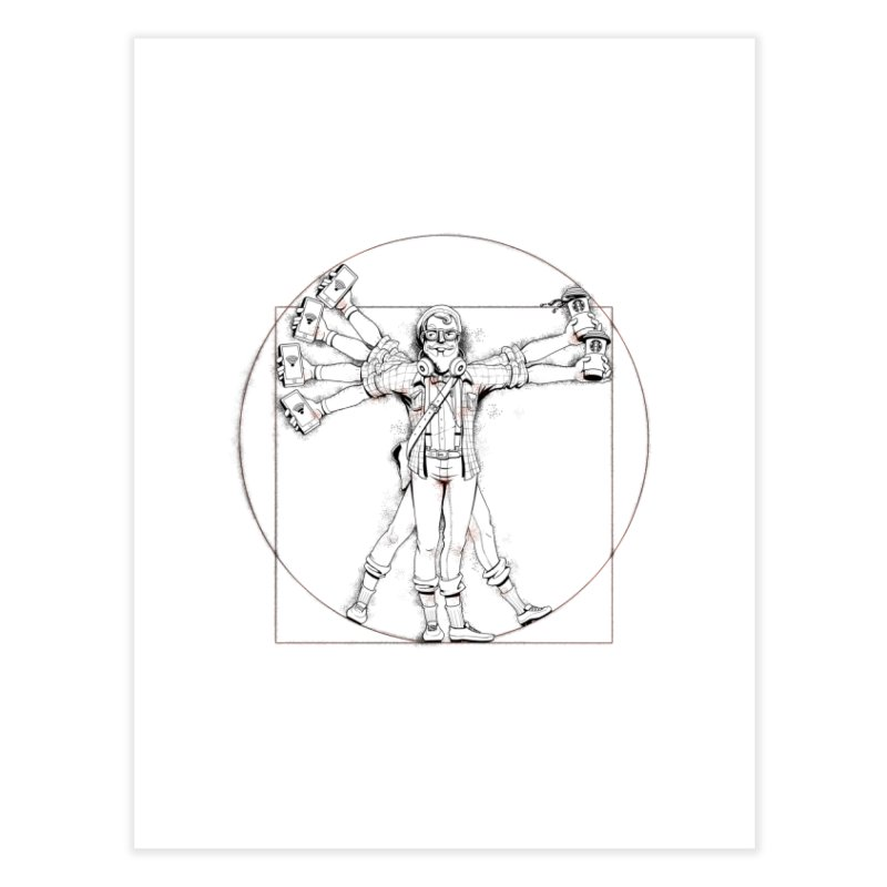 Hipstruvian Man Home Fine Art Print by T2U