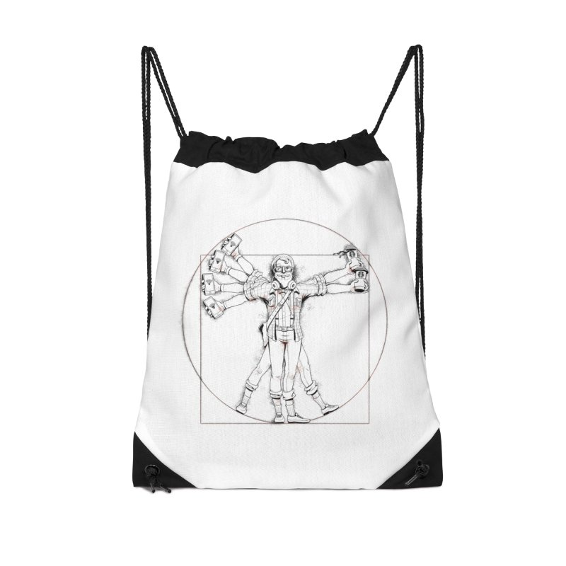 Hipstruvian Man Accessories Drawstring Bag Bag by T2U