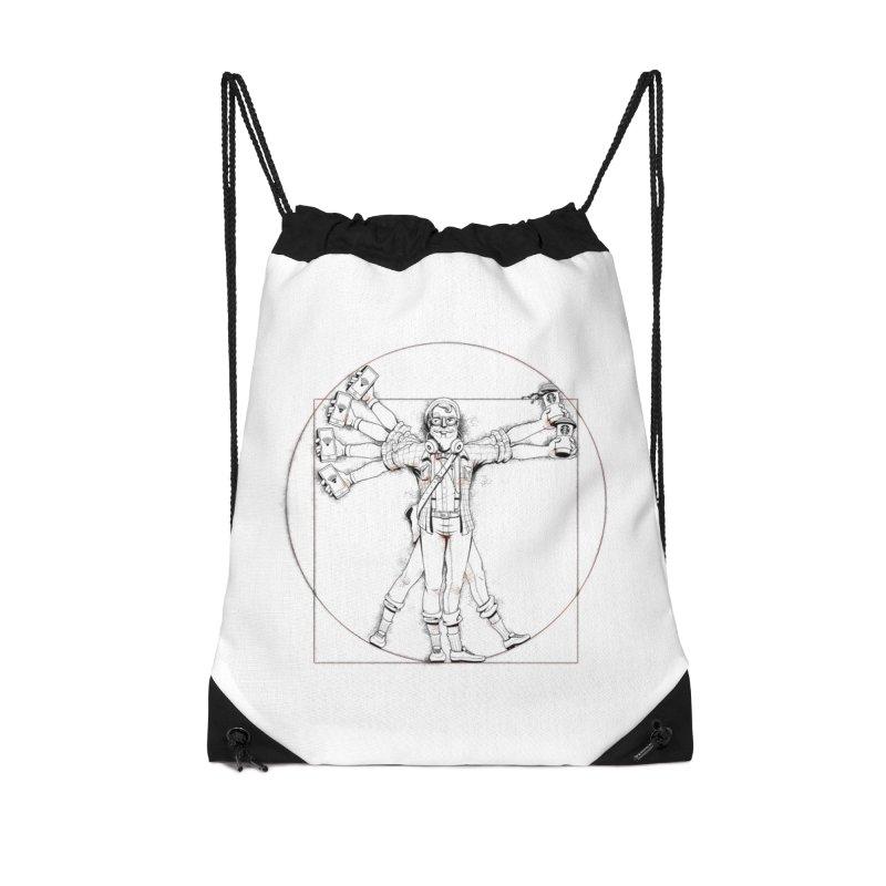 Hipstruvian Man Accessories Drawstring Bag Bag by T2U