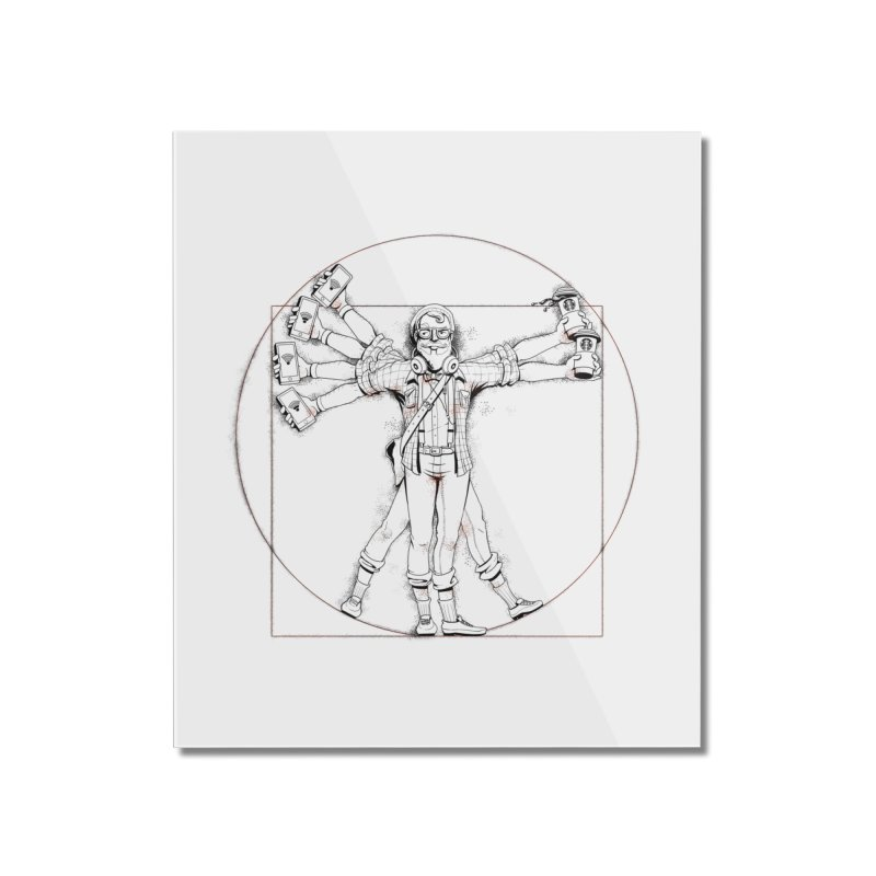 Hipstruvian Man Home Mounted Acrylic Print by T2U