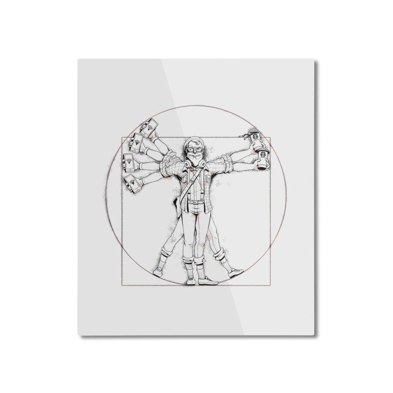 Hipstruvian Man Home Mounted Aluminum Print by T2U