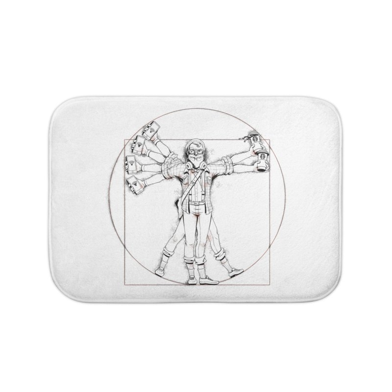 Hipstruvian Man Home Bath Mat by T2U