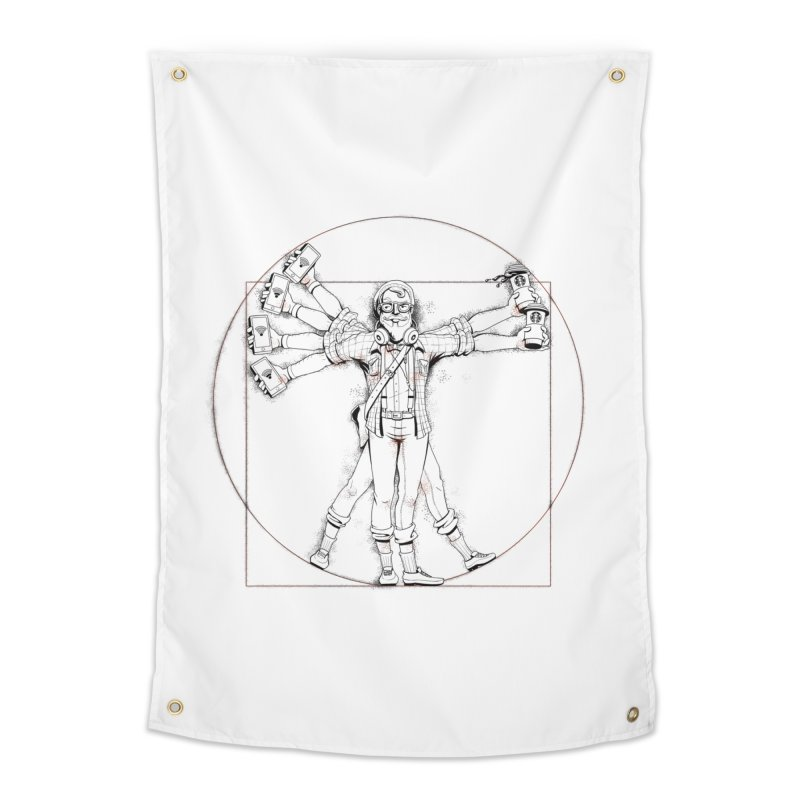 Hipstruvian Man Home Tapestry by T2U