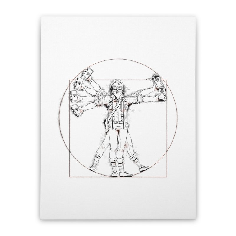 Hipstruvian Man Home Stretched Canvas by T2U