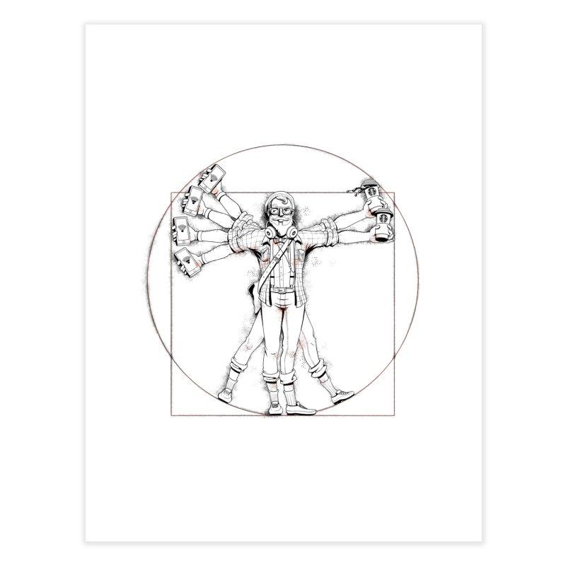 Hipstruvian Man Home Fine Art Print by T2U