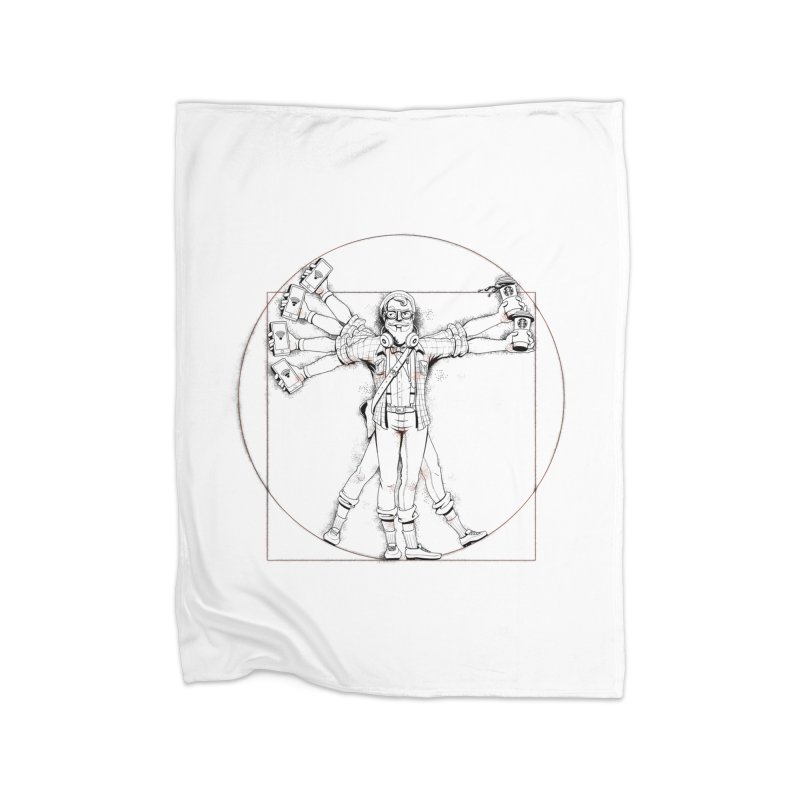 Hipstruvian Man Home Fleece Blanket Blanket by T2U