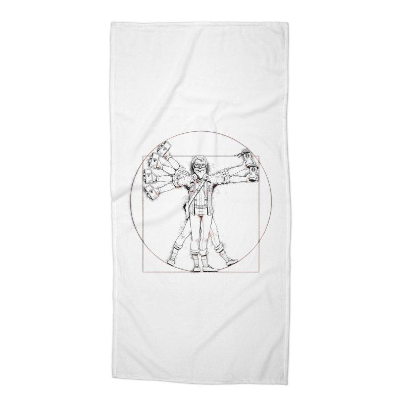 Hipstruvian Man Accessories Beach Towel by Tiago Möller Art Shop