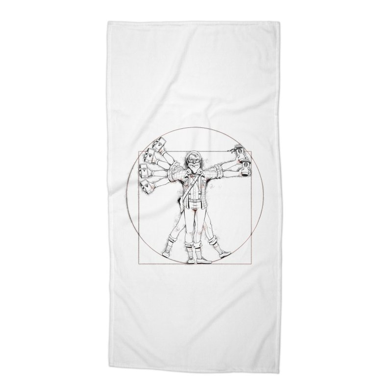 Hipstruvian Man Accessories Beach Towel by T2U