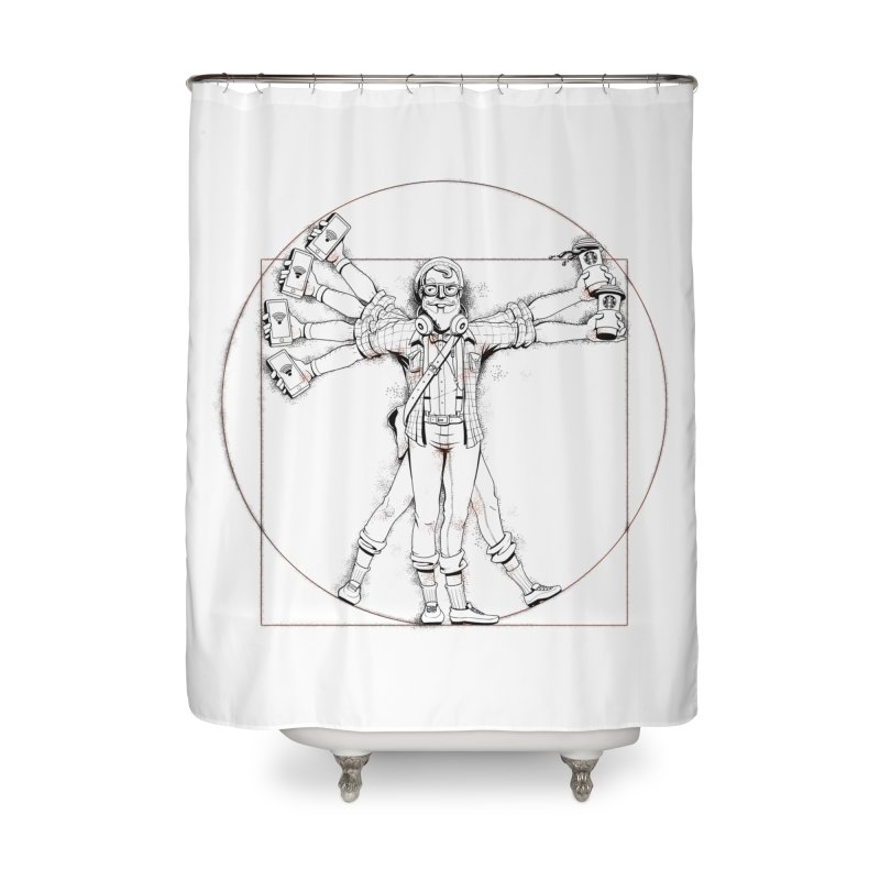 Hipstruvian Man Home Shower Curtain by T2U
