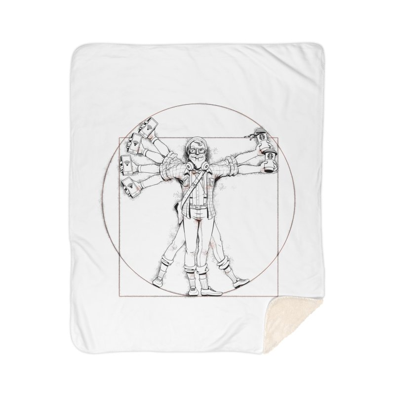 Hipstruvian Man Home Blanket by T2U