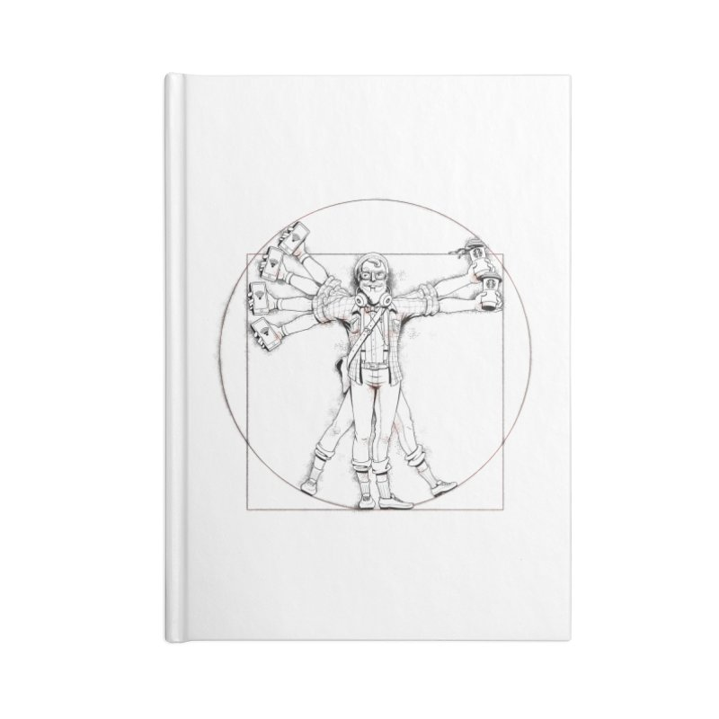 Hipstruvian Man Accessories Blank Journal Notebook by T2U