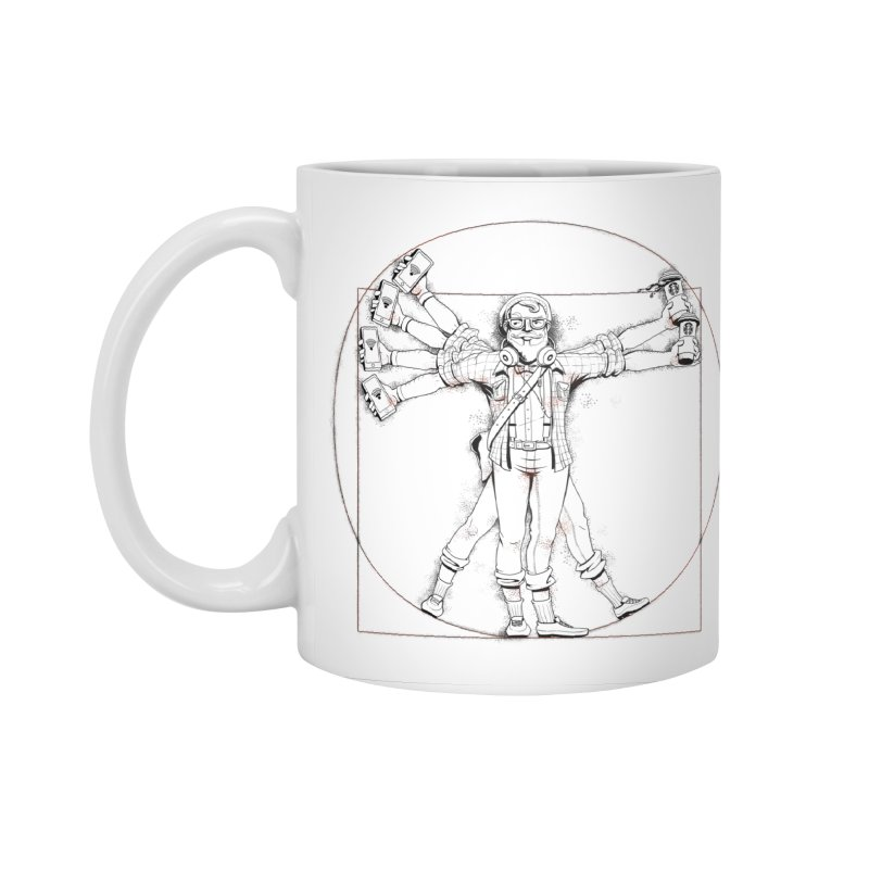 Hipstruvian Man Accessories Standard Mug by T2U