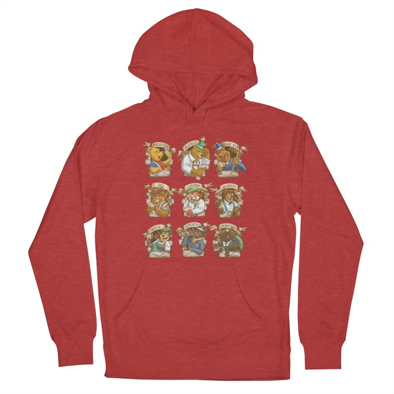 Beer Bears Men's French Terry Pullover Hoody by T2U
