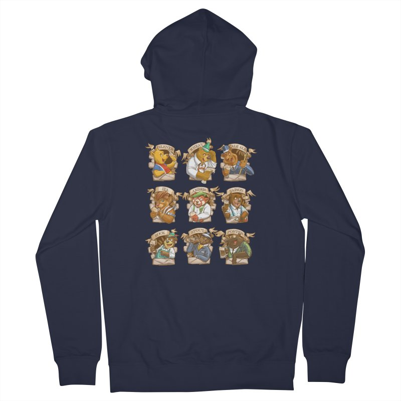 Beer Bears Men's Zip-Up Hoody by Tiago Möller Art Shop