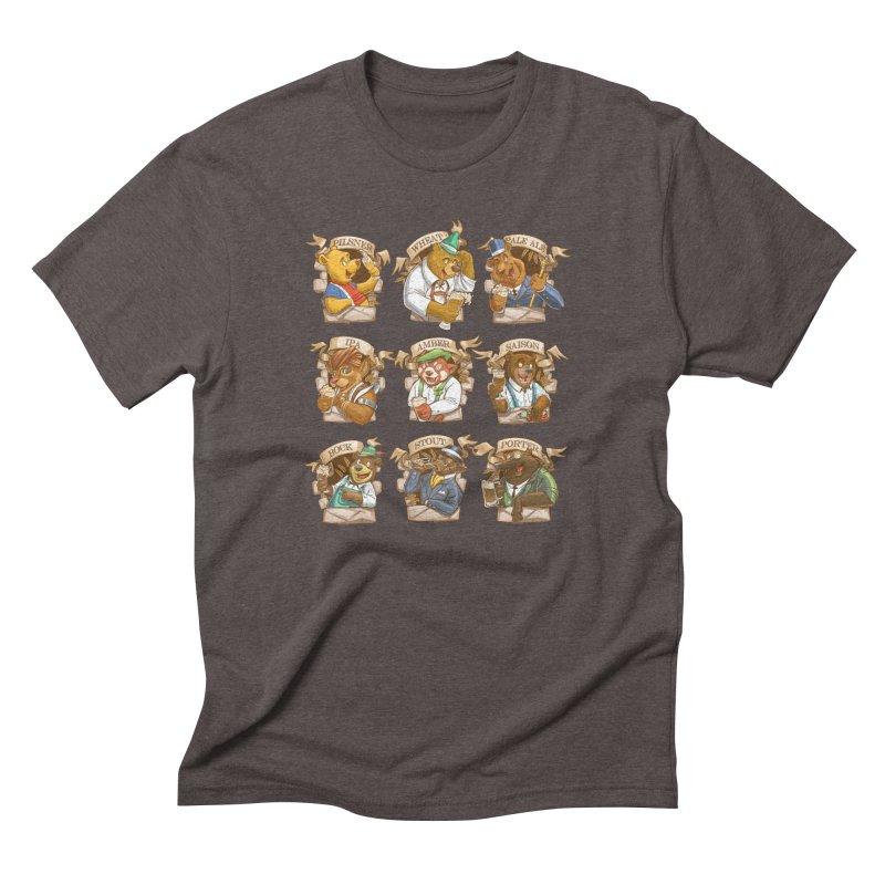 Beer Bears Men's Triblend T-Shirt by T2U