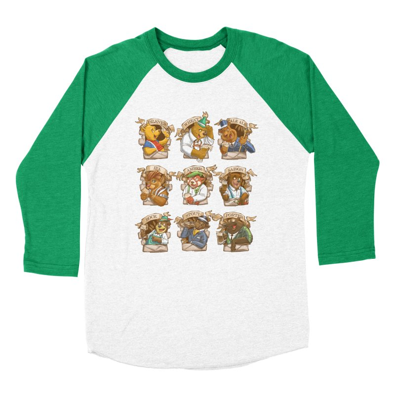 Beer Bears Men's Baseball Triblend Longsleeve T-Shirt by T2U