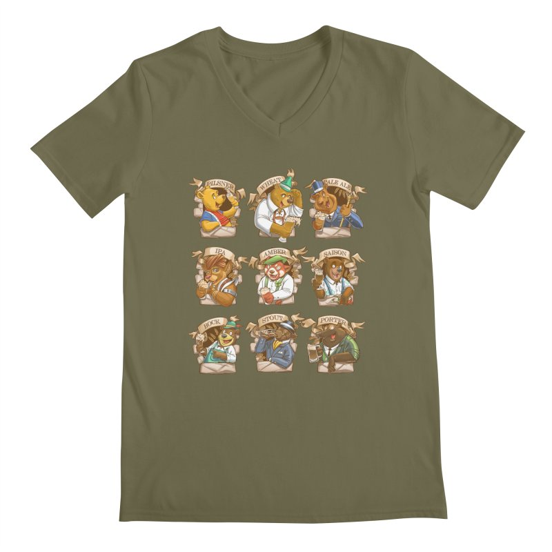 Beer Bears Men's Regular V-Neck by T2U