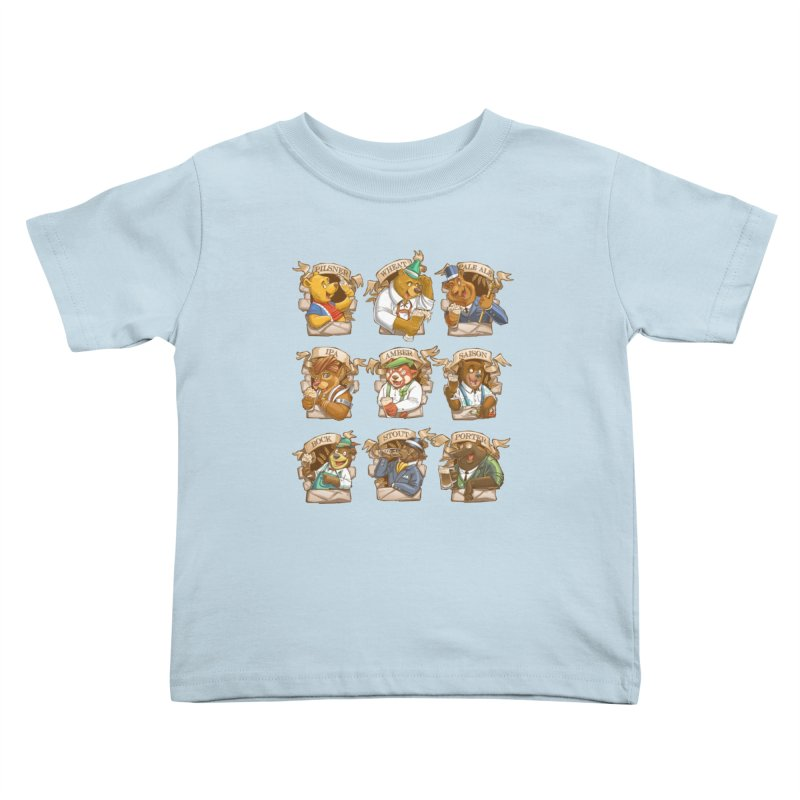 Beer Bears Kids Toddler T-Shirt by Tiago Möller Art Shop