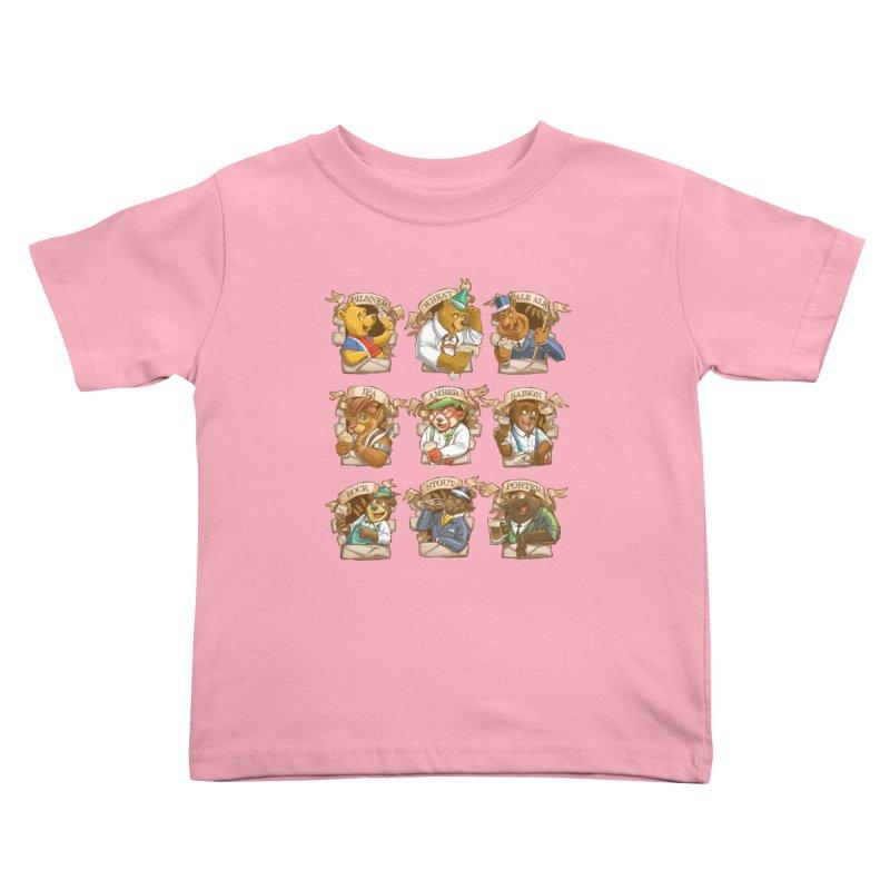 Beer Bears Kids Toddler T-Shirt by T2U
