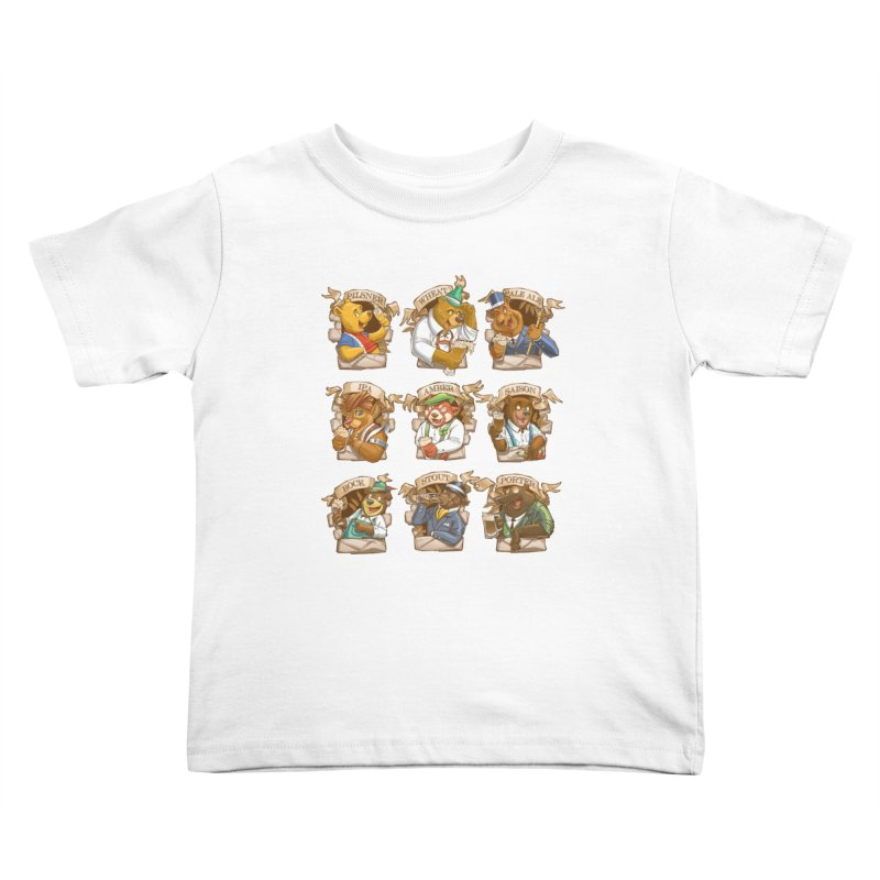 Beer Bears Kids Toddler T-Shirt by Tiago Möller Art Shop