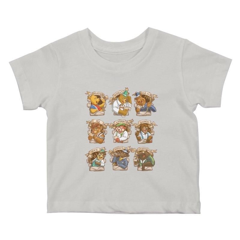 Beer Bears Kids Baby T-Shirt by Tiago Möller Art Shop