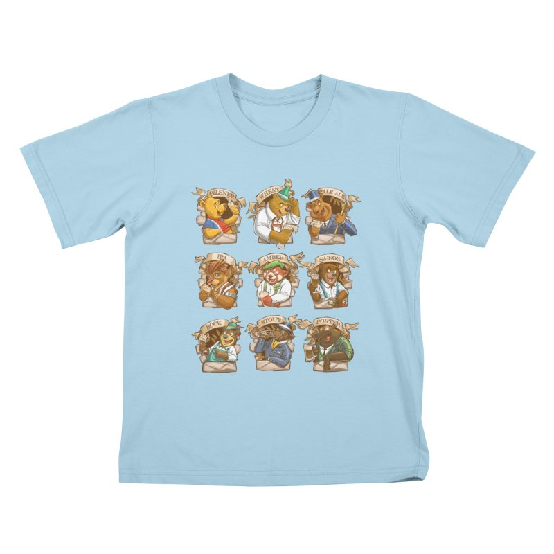 Beer Bears Kids T-Shirt by T2U