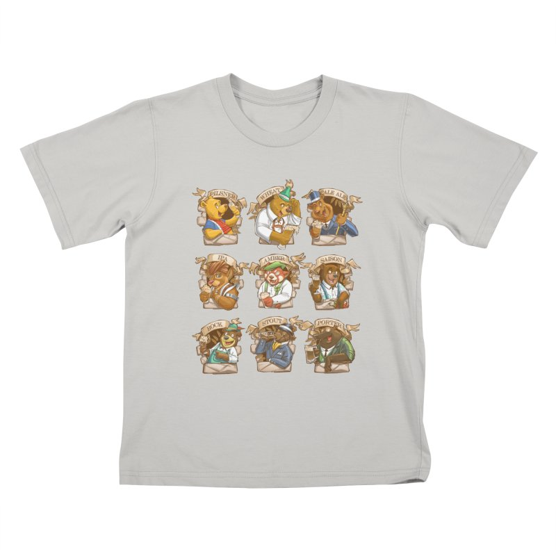Beer Bears Kids T-shirt by Tiago Möller Art Shop