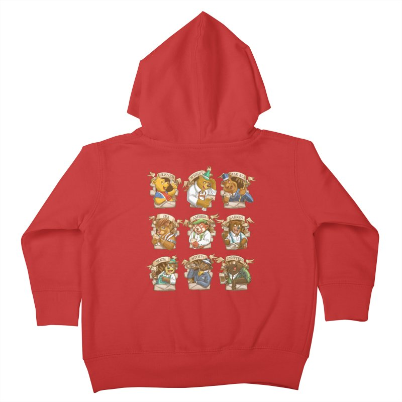 Beer Bears Kids Toddler Zip-Up Hoody by T2U