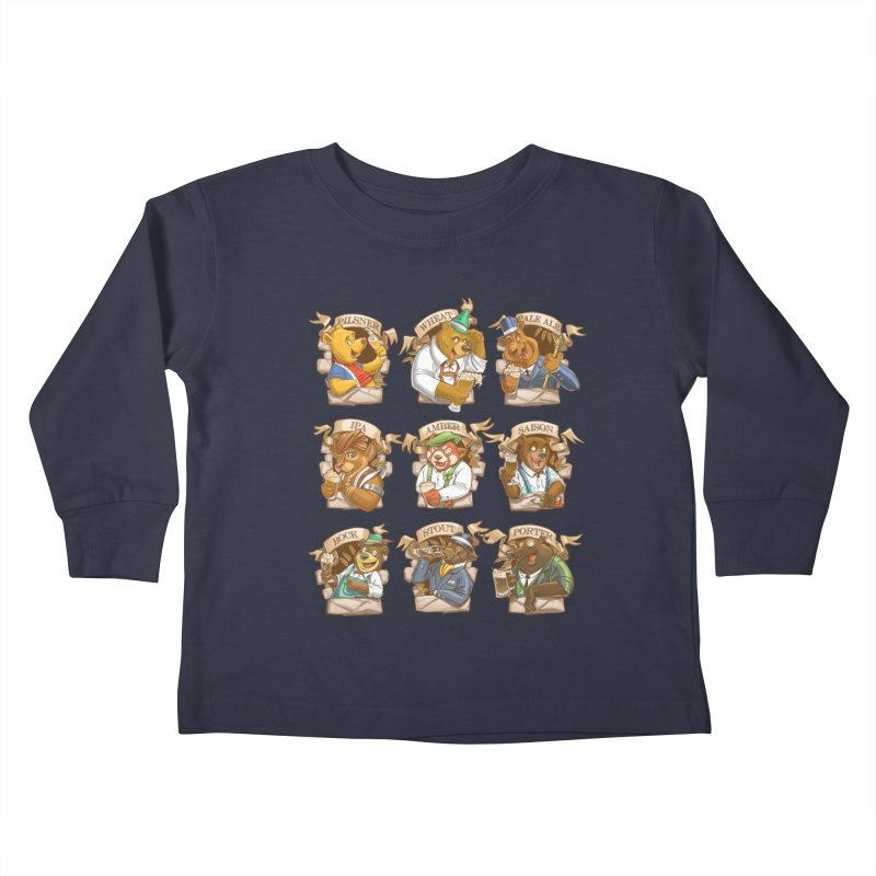 Beer Bears Kids Toddler Longsleeve T-Shirt by T2U